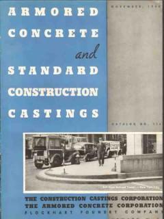 Armored Concrete Corp 1940 Vintage Catalog Construction Castings 116