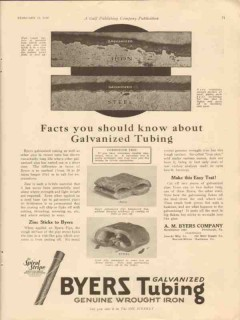 a m byers company 1928 facts know about galvanized tubing vintage ad