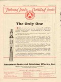 American Iron Machine Works 1928 Vintage Ad Oil Only One Drilling Tool