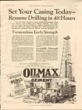 Ash Grove Lime Portland Cement 1928 Vintage Ad Oil Drilling Set Casing