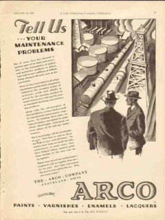 arco company 1928 tell us your maintenance problems oil gas vintage ad