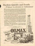 Ash Grove Lime Portland Cement 1928 Vintage Ad Hardens Quickly Evenly