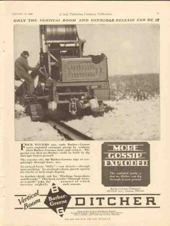 Barber-Greene Company 1928 Vintage Ad Ditcher More Gossip Exploded