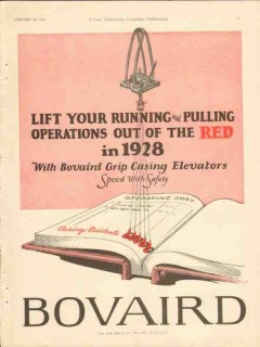 Bovaird Company 1928 Vintage Ad Oil Grip Casing Elevators Running