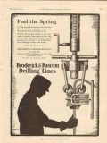 Broderick Bascom Rope Company 1928 Vintage Ad Oil Spring Drilling Feel