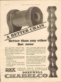 chain belt company 1928 oil gas better than other bar none vintage ad
