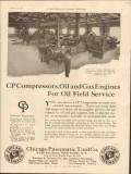 Chicago Pneumatic Tool Company 1928 Vintage Ad Oil Compressors Engines