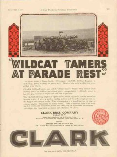 Clark Brothers Company 1928 Vintage Ad Oil Wildcat Tamers TX Pacific