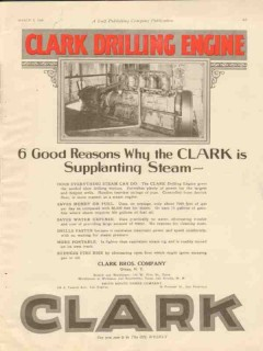 Clark Brothers Company 1928 Vintage Ad Oil Drilling Engine Steam