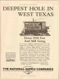 Climax Engineering Company 1928 Vintage Ad Oil Deepest Hole West Texas