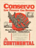 Continental Supply Company 1928 Vintage Ad Gas Burner Low Pressure