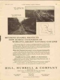 hill hubbell company 1928 biturine enamel protects gas line vintage ad