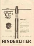 Hinderliter Tool Company 1928 Vintage Ad Oil Trip Spring Latch Jack