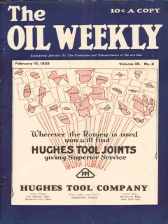 Hughes Tool Company 1928 Vintage Ad Oil Weekly Cover Rotary Service
