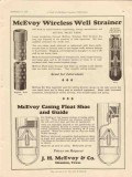 J H McEvoy Company 1928 Vintage Ad Oil Wireless Well Strainer Casing