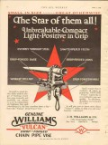 j h williams company 1928 star vulcan chain pipe vise vintage ad