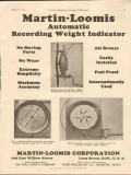 Martin-Loomis Corp 1928 Vintage Ad Oil Auto Recording Weight Indicator