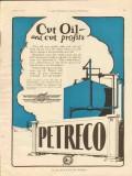 Petroleum Rectifying Company 1928 Vintage Ad Cut Oil Profits Petreco