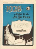 Petroleum Rectifying Company 1928 Vintage Ad Oil Make It No-Loss Year