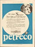Petroleum Rectifying Company 1928 Vintage Ad Oil Doctor Official