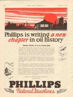 Phillips Petroleum Company 1928 Vintage Ad Oil Gas History New Chapter