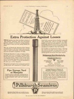 pittsburgh steel products company 1928 extra protection vintage ad
