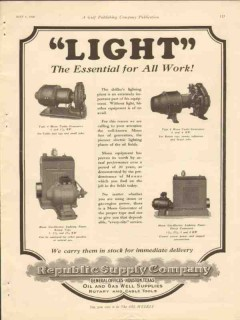 republic supply company 1928 light essential all work oil vintage ad