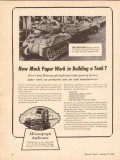a b dick company 1943 paper work building tank mimeograph vintage ad