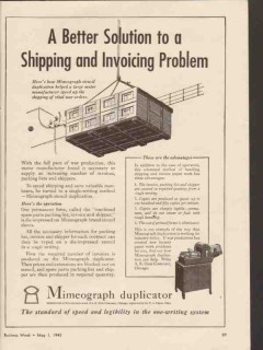 a b dick company 1943 shipping invoice solution mimeograph vintage ad
