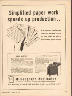 a b dick company 1943 simplified paper work mimeograph vintage ad