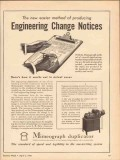 a b dick company 1943 engineering change notice mimeograph vintage ad