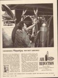 air reduction 1943 airco cushioning flagships easy landings vintage ad