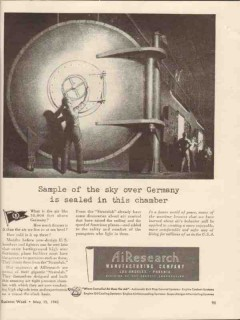 airearch mfg company 1943 sample sky over germany ww2 vintage ad