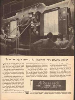 airearch mfg company 1943 previewing new fighter ww2 vintage ad