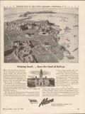 alcoa steamship company 1943 helping hand venezuela map vintage ad
