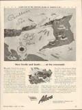 alcoa steamship company 1943 crossroads trinidad ww2 map vintage ad