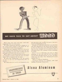 aluminum company of america 1943 we have say about wood vintage ad