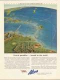 alcoa steamship company 1943 tourist paradise ww2 map vintage ad