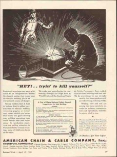 american chain cable 1954 hey trying to kill yourself vintage ad