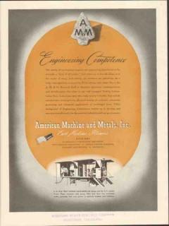 american machine metals inc 1943 engineering competence vintage ad