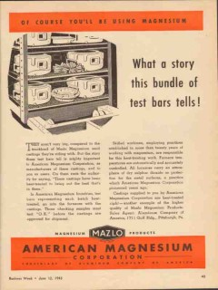 american magnesium corp 1943 story bundle test bars tell vintage ad