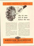 american magnesium corp 1943 air full of them before war vintage ad