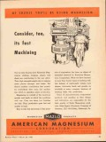 american magnesium corp 1943 consider fast machining ww2 vintage ad