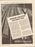 association of american railroads 1943 worlds greatest ww2 vintage ad
