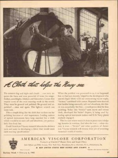 american viscose corp 1943 avisco rayon cloth help navy see vintage ad
