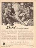 american viscose corp 1943 rayon stretch without rubber ww2 vintage ad