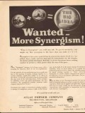 atlas powder company 1943 big idea wanted more synergism vintage ad