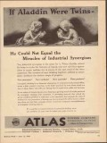 atlas powder company 1943 aladdin were twins synergism vintage ad
