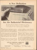 atlas powder company 1943 definition industrial dictionary vintage ad