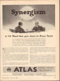 atlas powder company 1943 synergism gets down brass tacks vintage ad